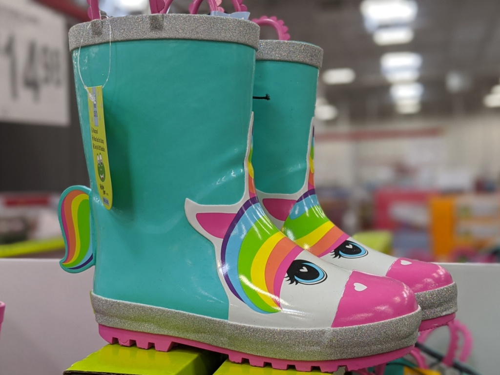 kids unicorn rain boots