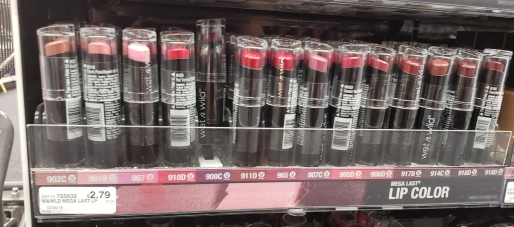 Wet n Wild Lipsticks at CVS