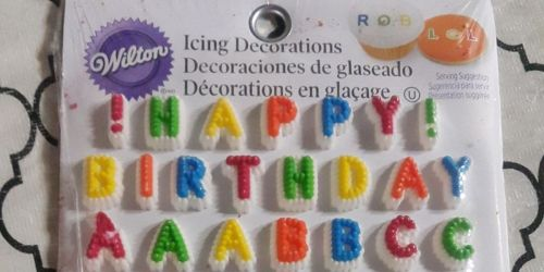 Wilton Letters & Numbers Edible Icing Decorations Just $1.88 on Amazon