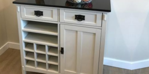 Wood Bar Cabinet Only $200 Shipped on HomeDepot.com (Regularly $500)