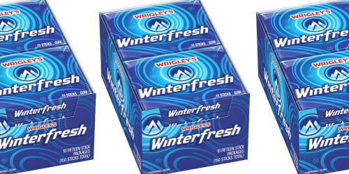 Wrigley's Winterfresh Gum 10-Pack Only $7 Shipped on Amazon | Just 71¢ Per Pack