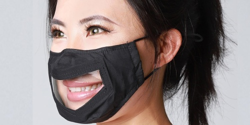 Clear-Panel Face Mask 4-Pack Only $34.99 Shipped (Just $8.75 Each)