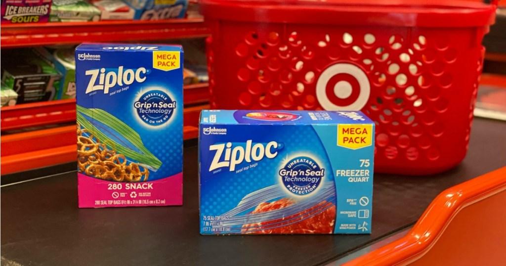 Ziploc Bags on target checkout belt