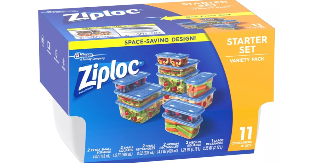 Ziploc Variety Pack of 11 Containers with lids