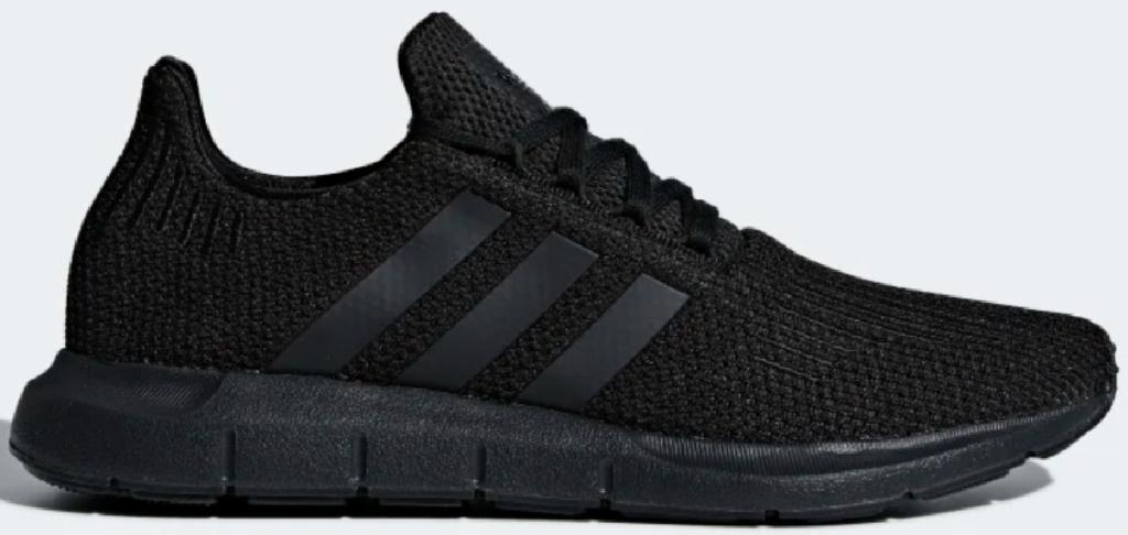 adidas men's black running shoes