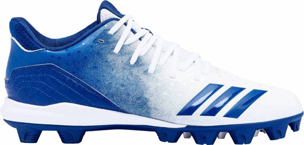 blue and white adidas cleats