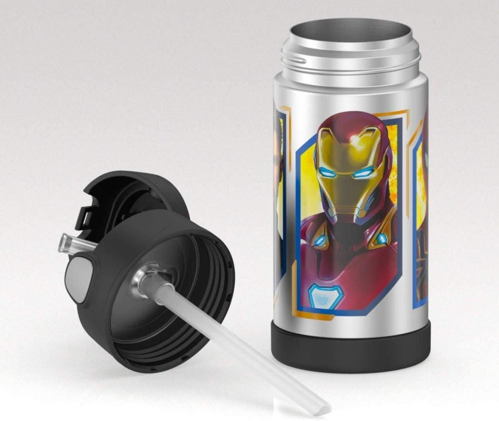 Avengers Thermos with the lid off