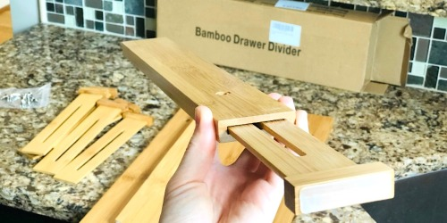 Easy to Install Bamboo Drawer Dividers Are a Game Changer – And Under $6 Each!