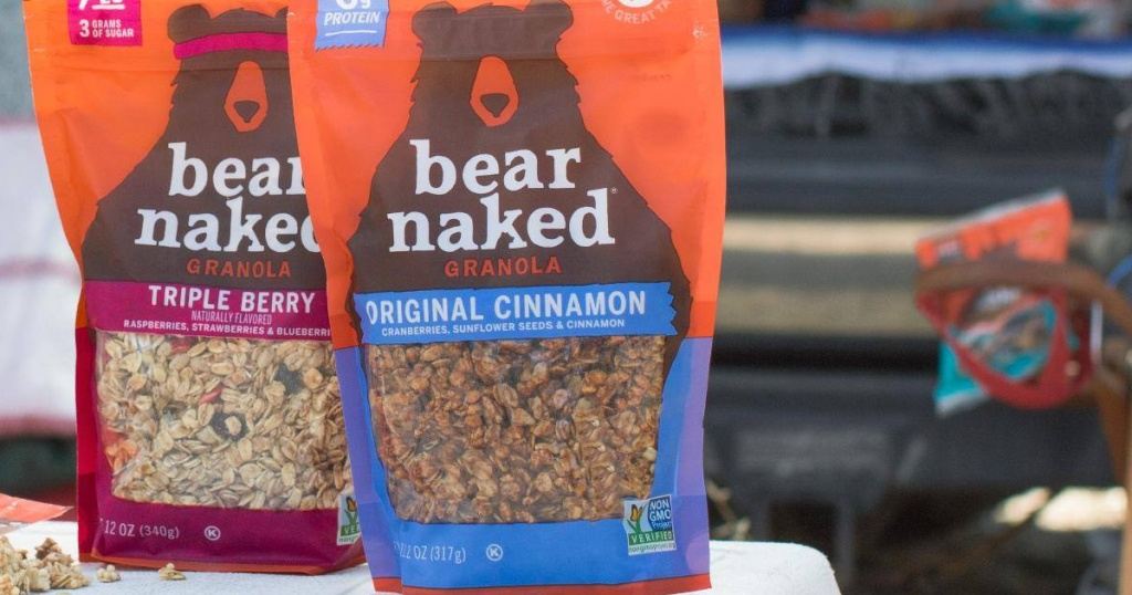 bear naked granola triple berry and original cinnamon