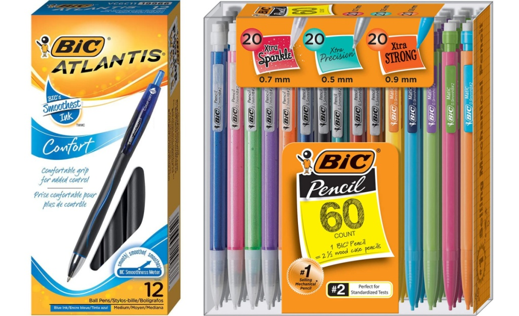 bic pens and pencils in value packs