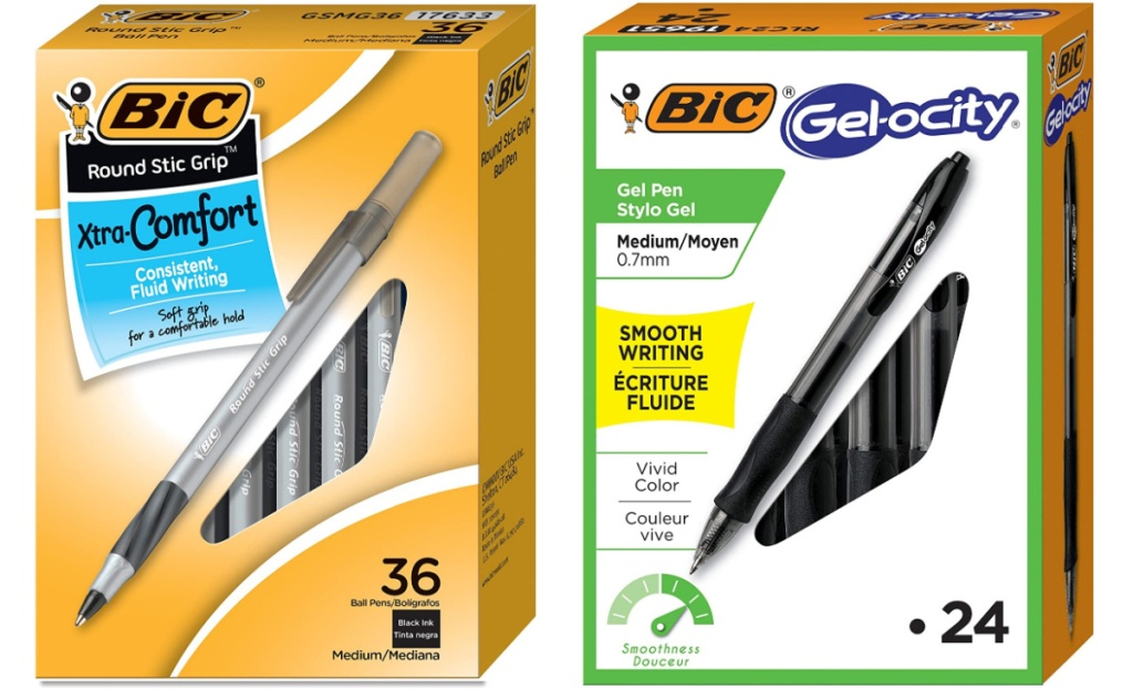 bic pens in value packs