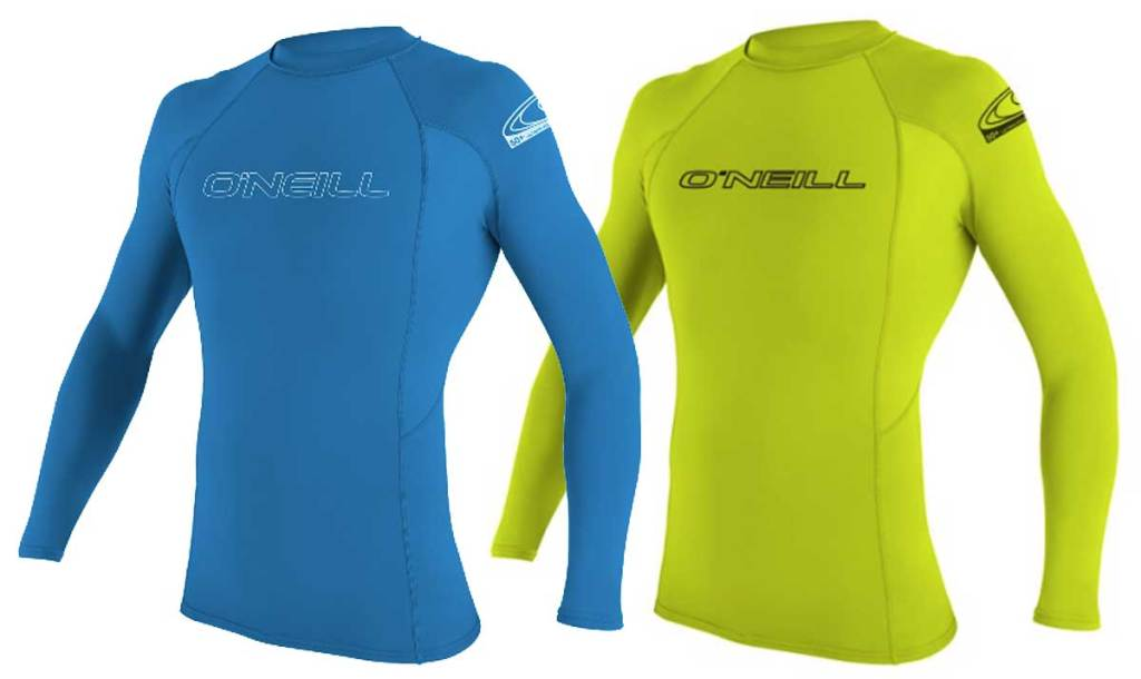 youth oneill rash guards in blue and yellow