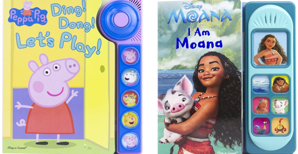 peppa pig and moana books