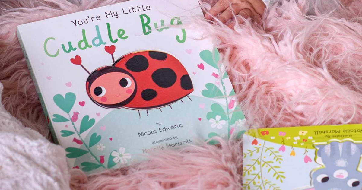 you're my cuddle bug book on fluffy pink surface