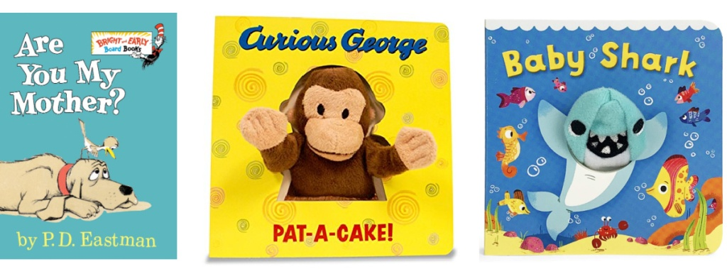 are you my mother, curious george and baby shark books