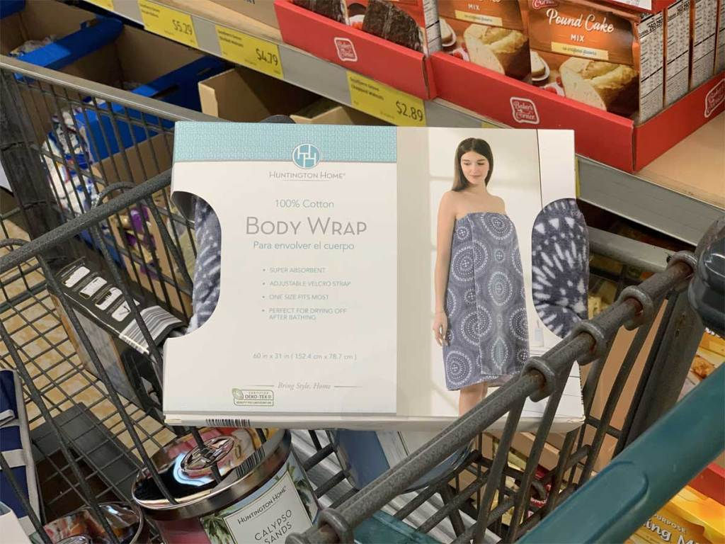 ladies body wrap in box in cart