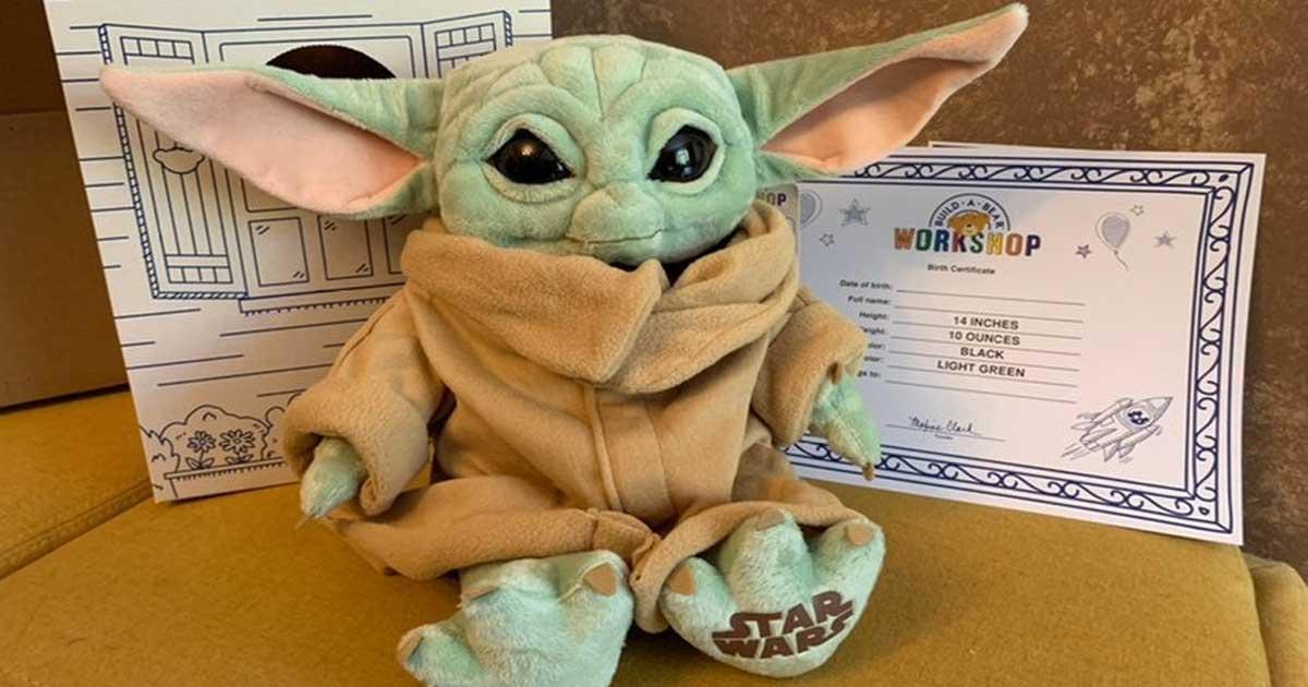 star wars mandalorian the child toy plush