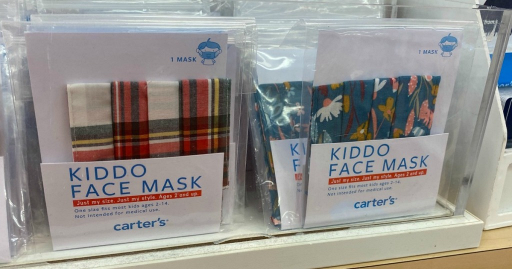 carter's face masks on display