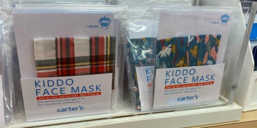 Carter's Kids Reusable Face Masks Only $3 | Cute New Prints