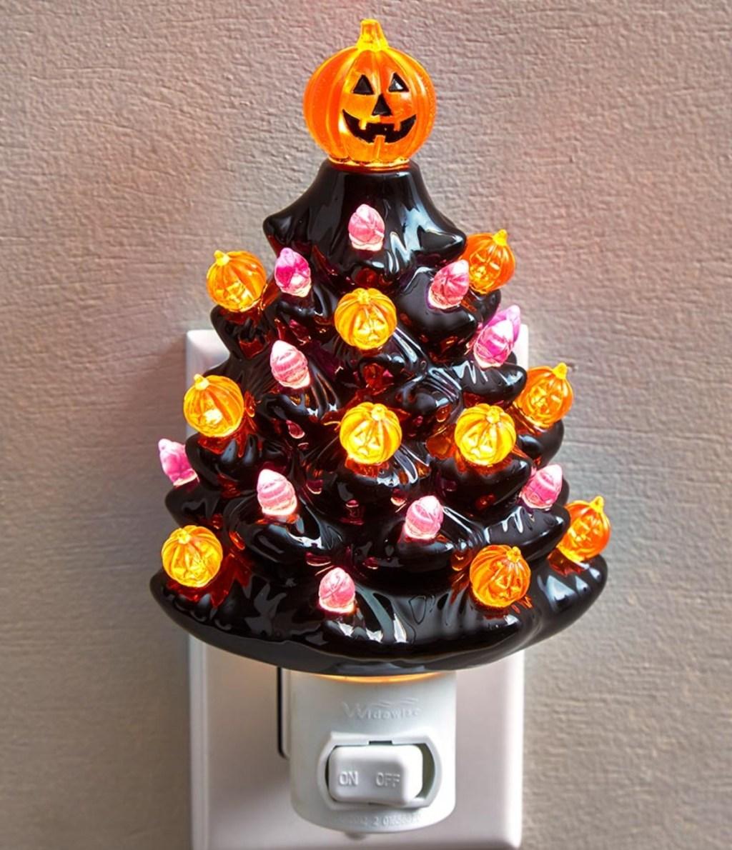 ceramic Halloween tree night light