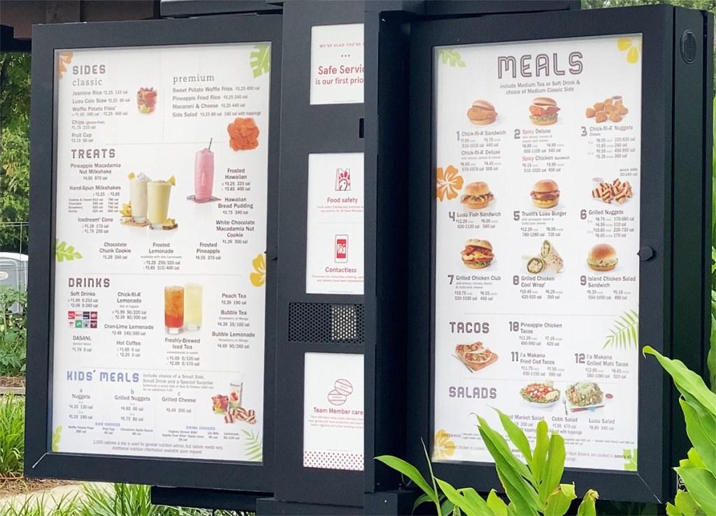 chick-fil-a menu
