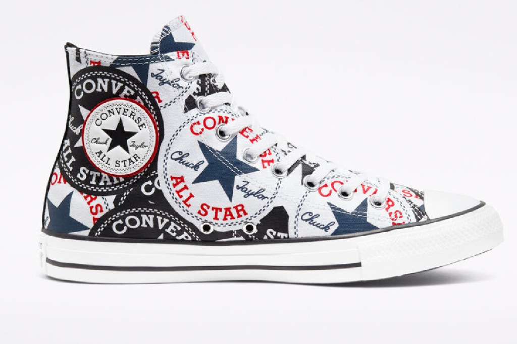 converse sneakers with converse logo all over shoe
