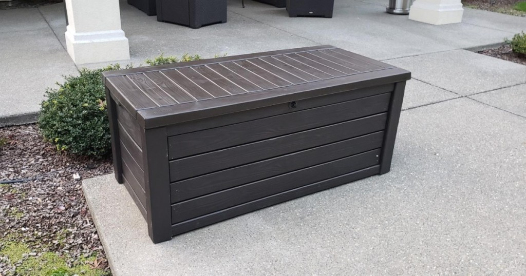 brown deck box