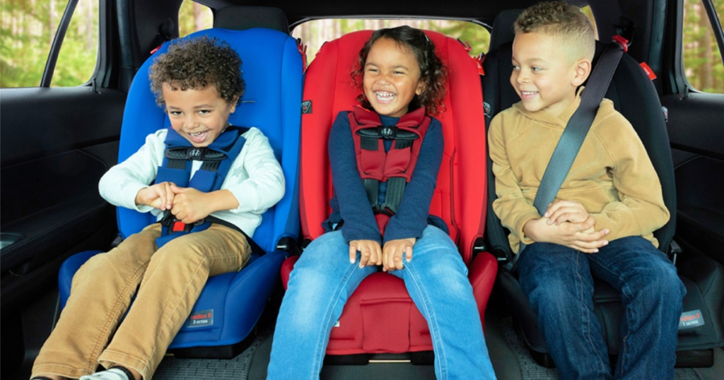 diono car seats in car with kids
