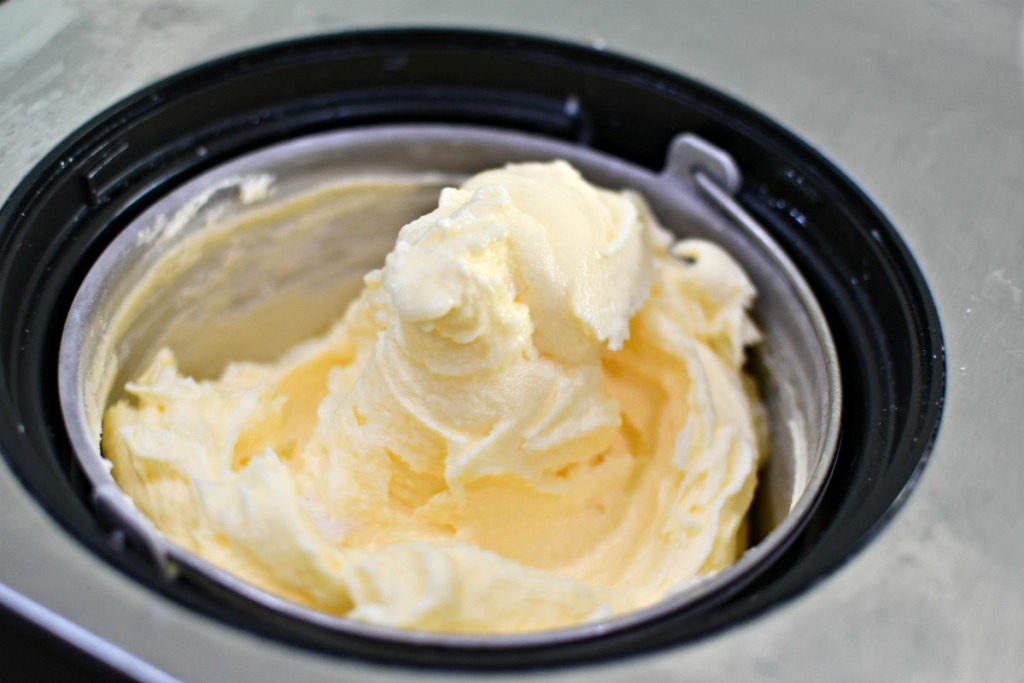dole whip in an ice cream maker