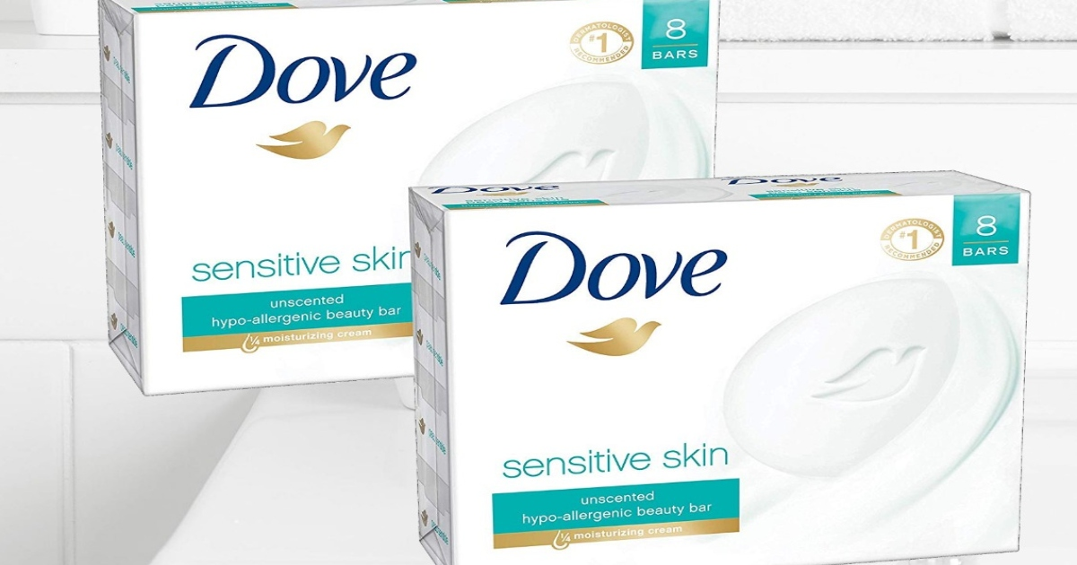 two eight packs of dove beauty bars