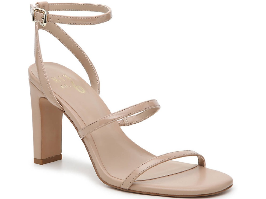 tan strappy open toed sandals