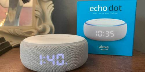 Echo Dot w/ Clock + 2 Months of Amazon Music Unlimited Only $25.97 Shipped (Regularly $76)