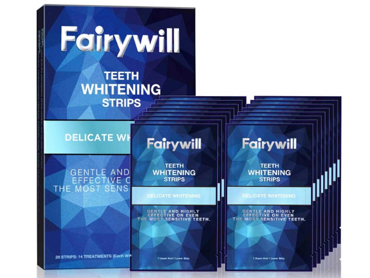 stock image of teeth whitening strips