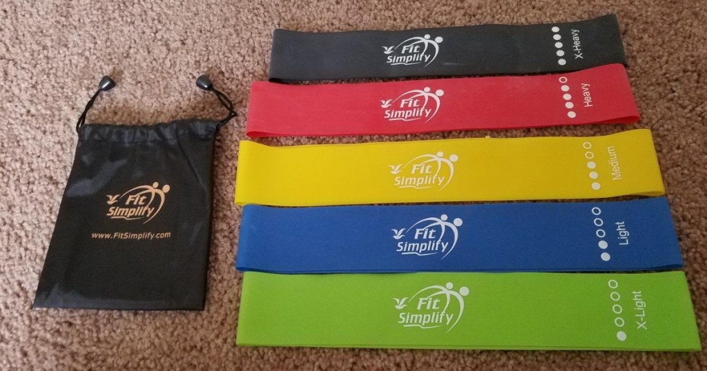 exercise bands with storage bag