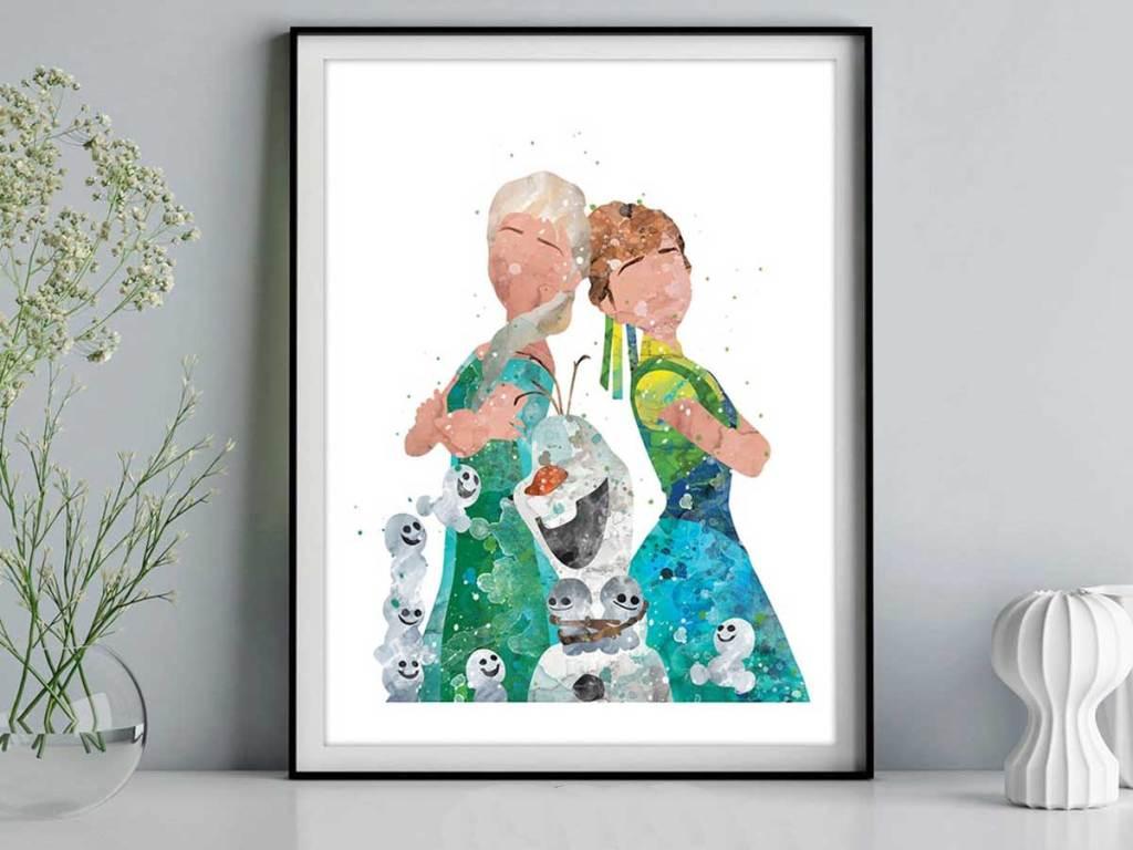 disney print in frame