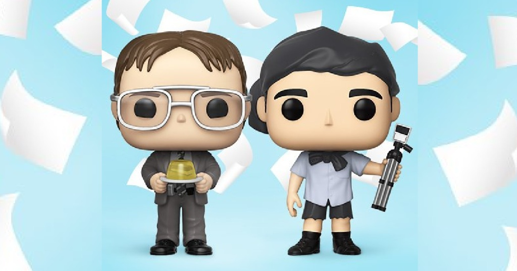 dwight and michael funko pop characters