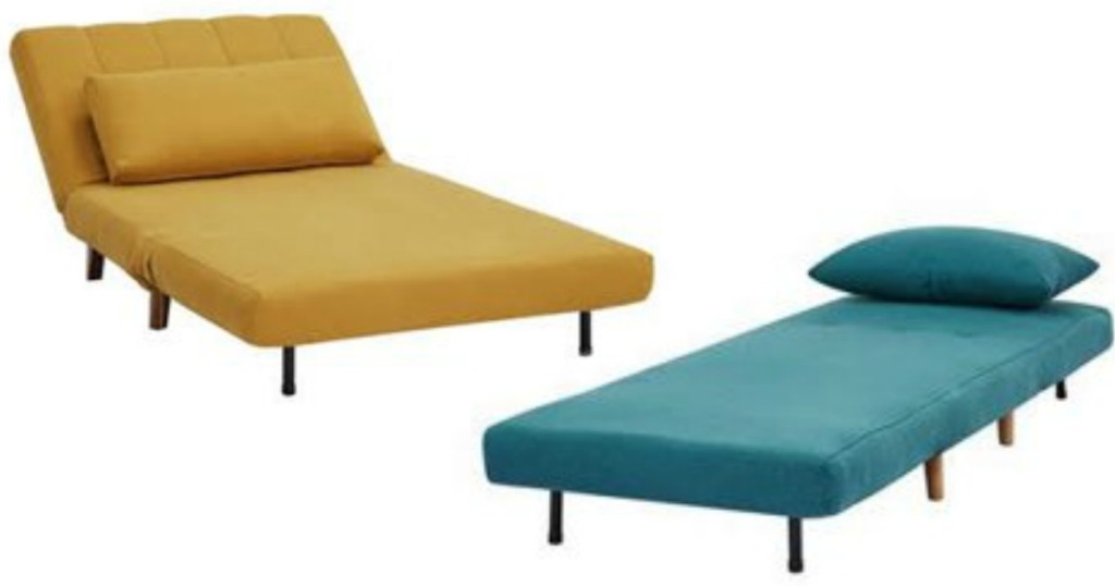 yellow and blue convertible chairs