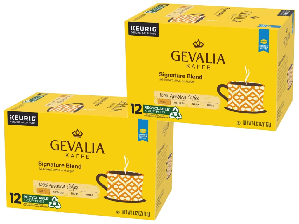 gevalia 12 count k-cups boxes