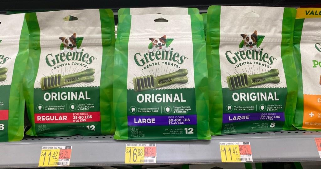 Greenies treats on store shelf
