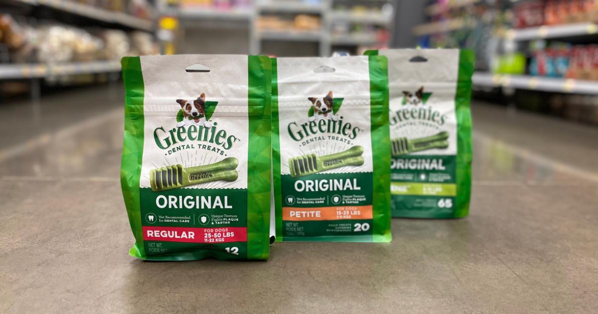 Greenies treats on store aisle