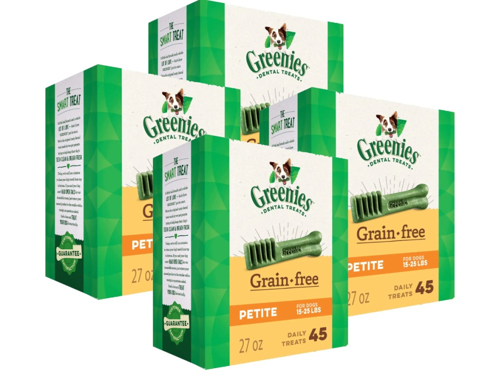 greenies petite 45-count boxes