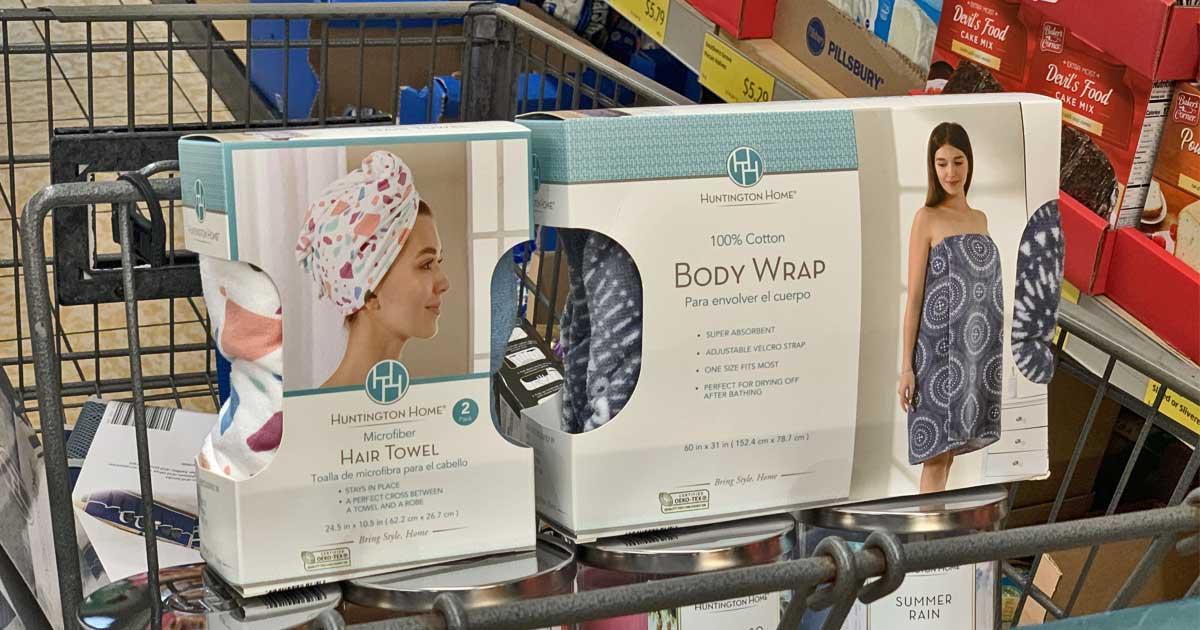ALDI hair towel and body wrap