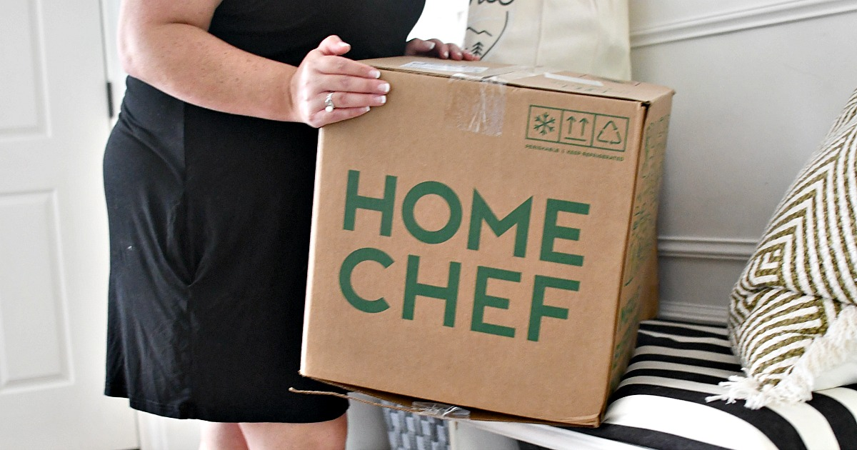 home chef box in the entryway