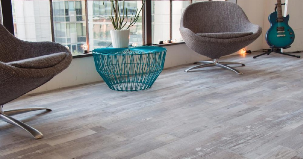 gray wood flooring in living room