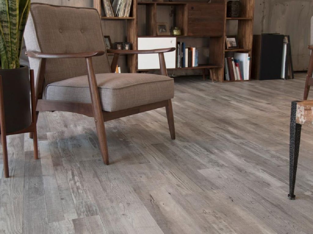 gray colored wood flooring in living room