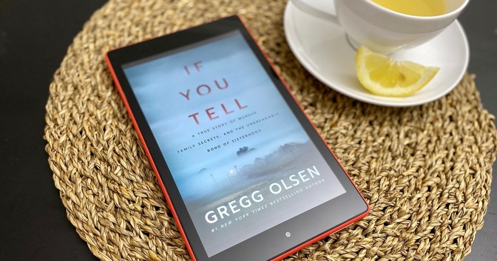 cover of If You Tell book on Kindle screen