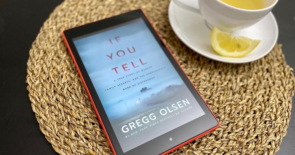 couverture du livre If You Tell sur l'écran du Kindle
