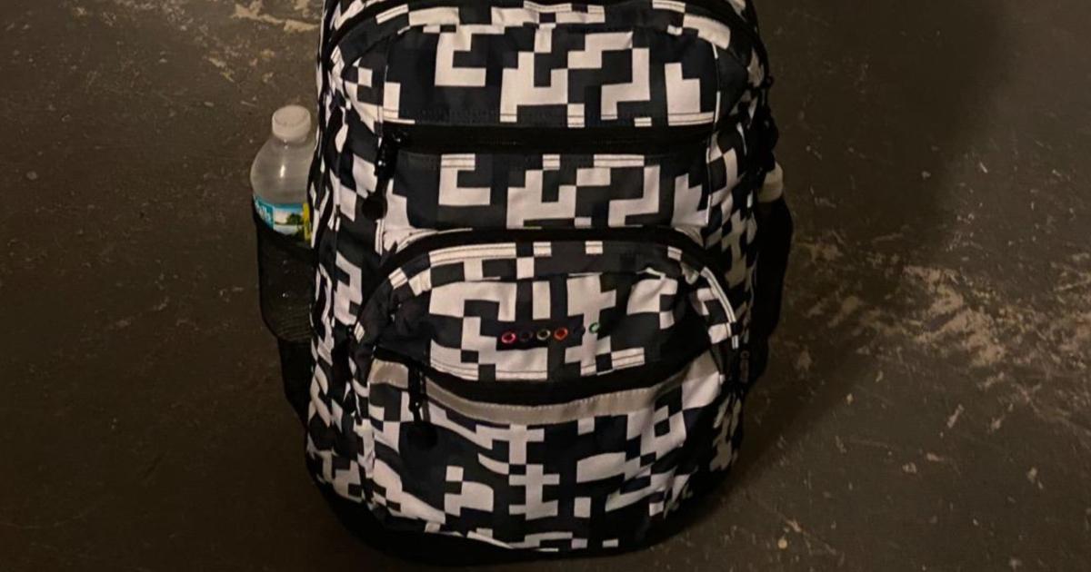 black and white camo laptop bag