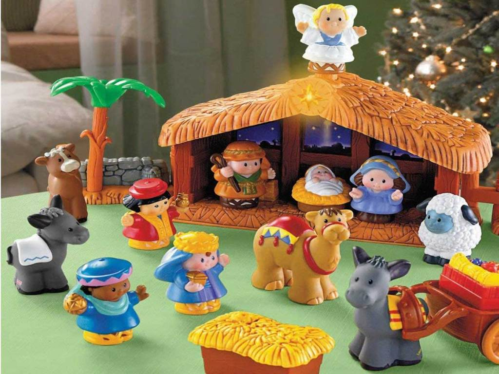 up close picture of children's nativity set