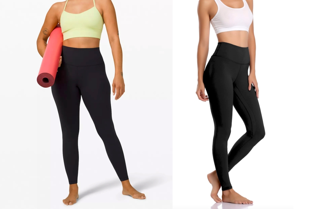 stock photos of woman in black leggings